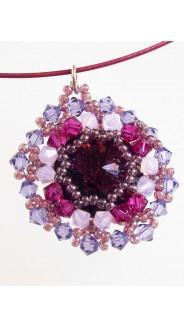 Zaya medál, lila-pink
