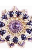 Granada nyaklánc, lila-kék-ezüst
