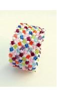 Mozaik karkötő, színes