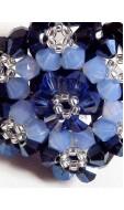 Óriás hópehely gyűrű, kék
