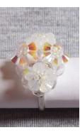 Tetra gyűrű, kristály-fehér