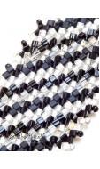 Pepita karkötő, fekete-fehér