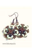 Perzsa fülbevaló, zöld-bronz