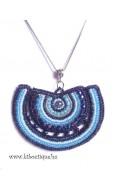 Mandala nyaklánc, kék mix