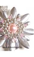 Margherita nyaklánc, ezüst-rózsaszín