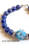 Ásvány gyöngyös karkötő, lapis lazuli
