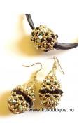 Fabergé szett, fekete-arany