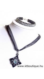 Masja szett, fekete-ezüst-black diamond ab2x
