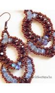 Flamenco fülbevaló, kék-bronz